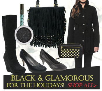 Black & Glamorous Vegan Shoes and Accessories for the holidays